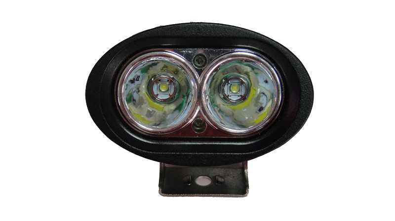 פנס הצפה לרכבי שטח דגם ספוט אובלי 20W ‏2POWER LEDS ‏10-30V - תמונה